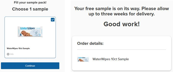 waterwipes sample