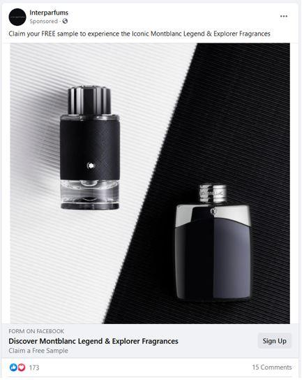 free montblanc fragrance sample