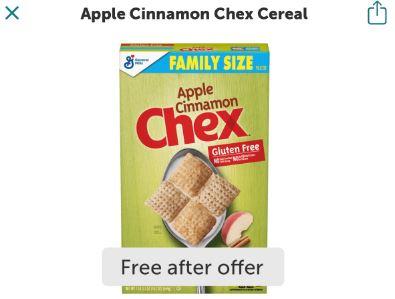 free apple cinnamon chex cereal