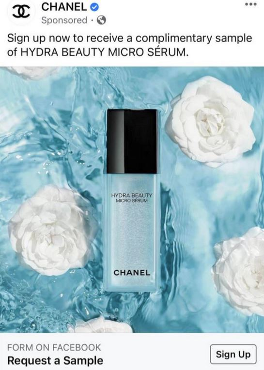 free chanel serum sample