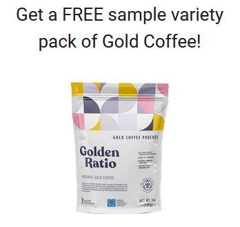free golden ratio coffe sample