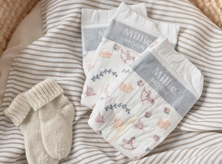 free millie moon baby diapers