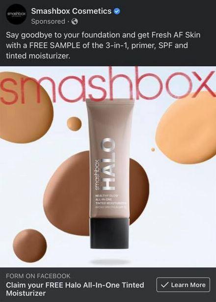 free smashbox halo sample