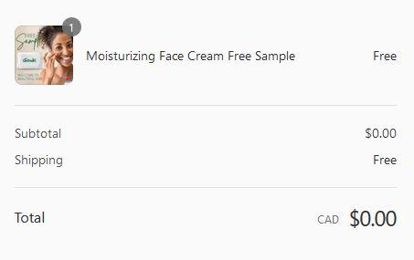 free glomalin cream sample